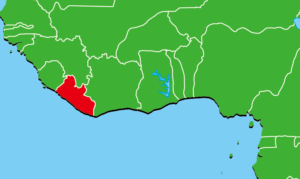 リベリア地図