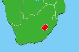 レソト地図