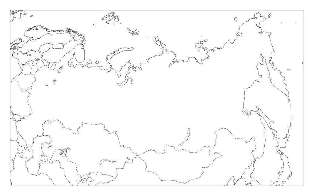 ロシア白地図