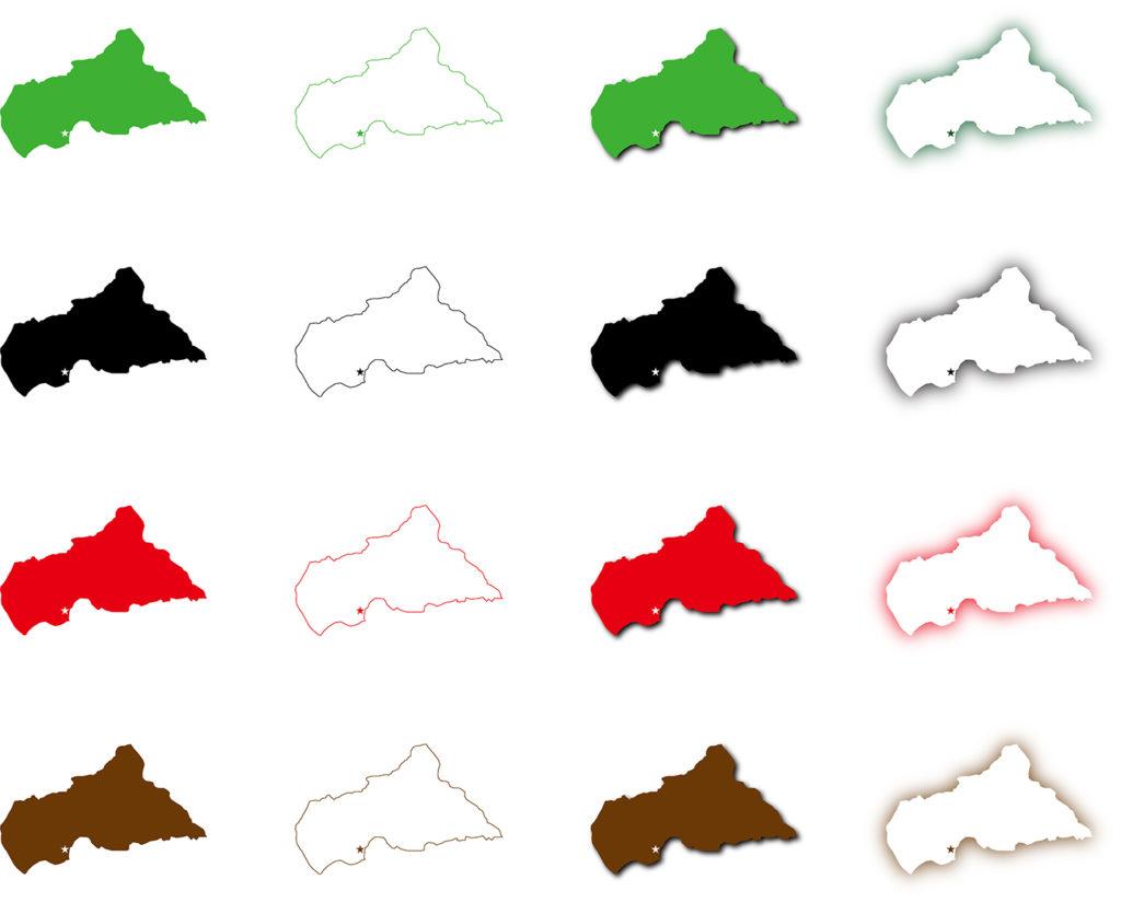 中央アフリカ共和国地図