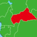 中央アフリカ地図