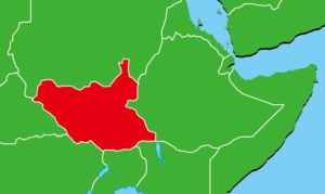 南スーダン地図