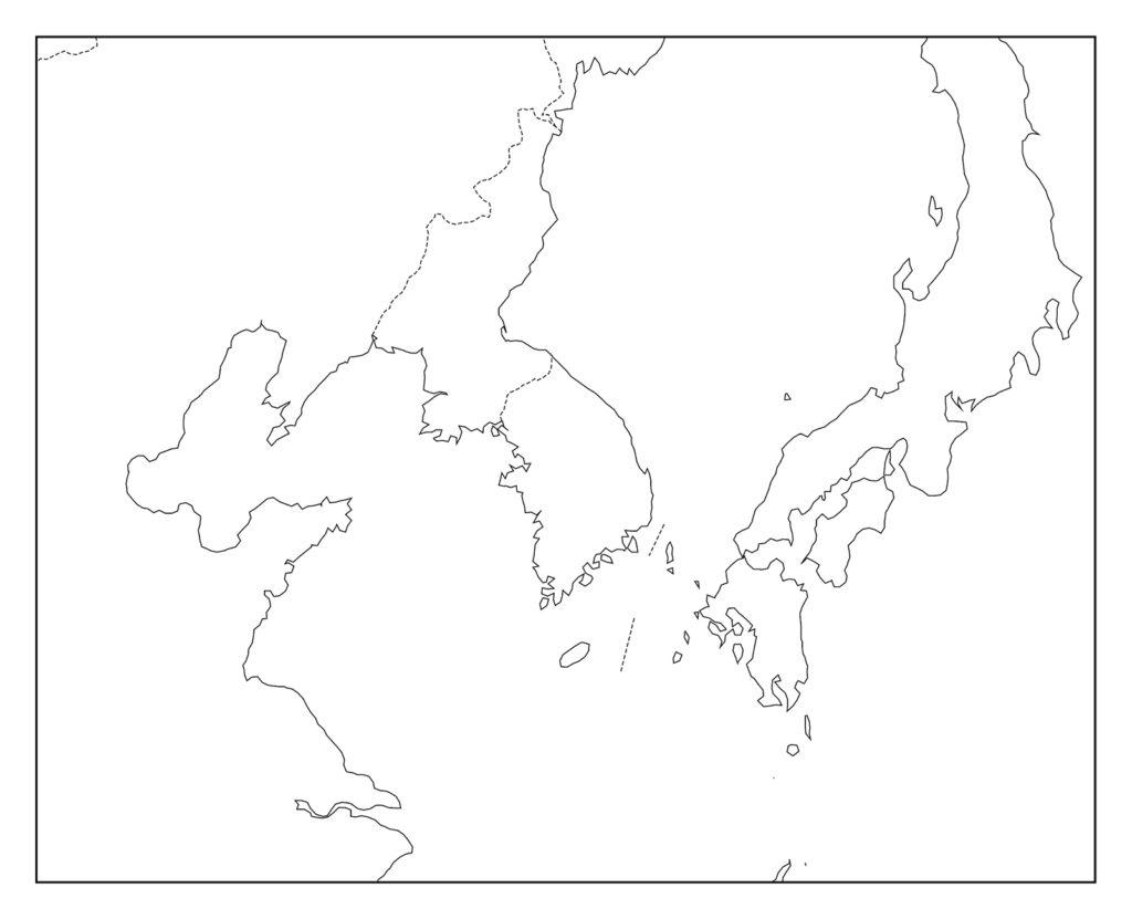 韓国白地図