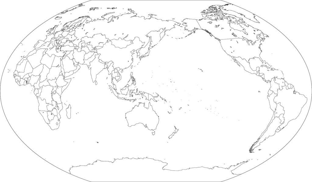 世界地図-ヴィンケル図法as-イラストAC用