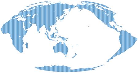 たて線-モルワイデ図法