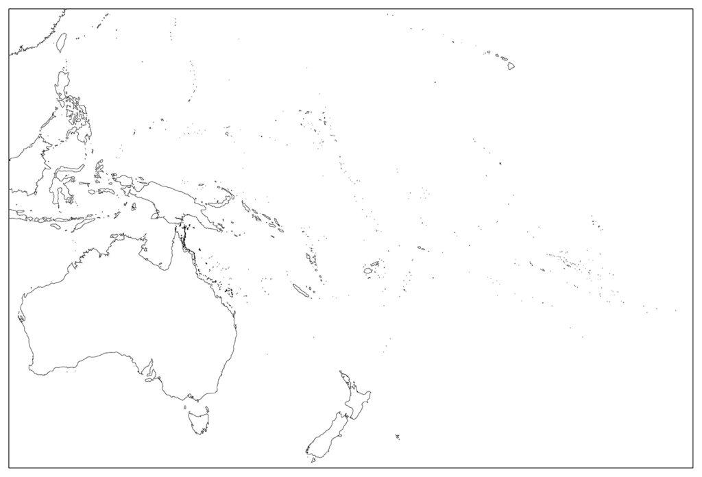 オセアニア地域-白地図-国境なし