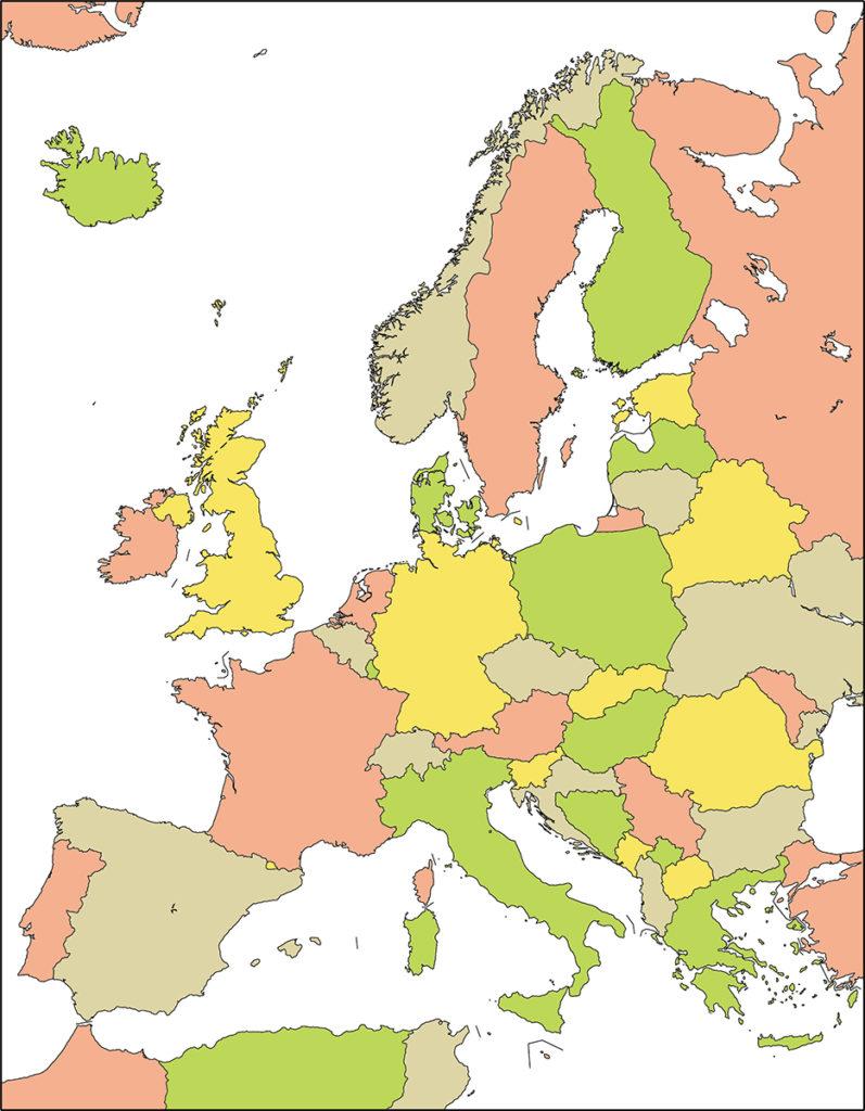 ヨーロッパ地域-国別