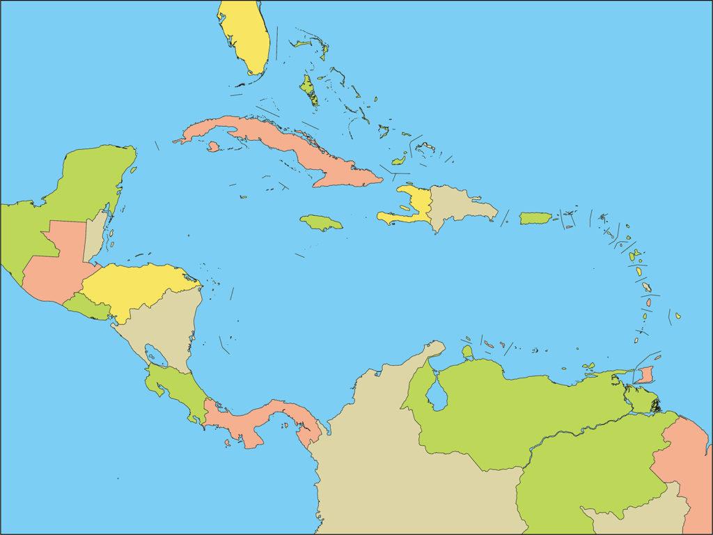 中部アメリカ地域-国別-海