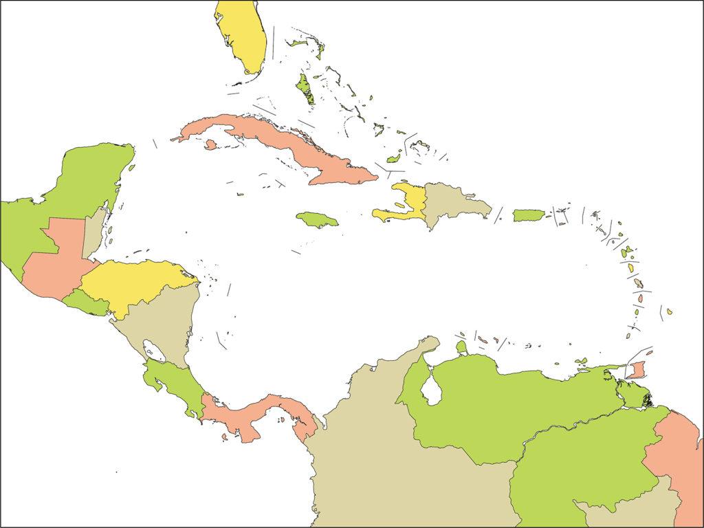中部アメリカ地域-国別