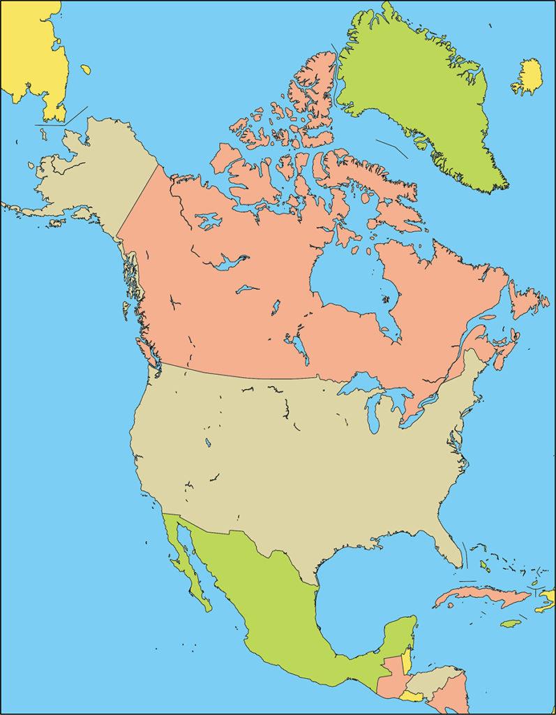北アメリカ地域-国別-海