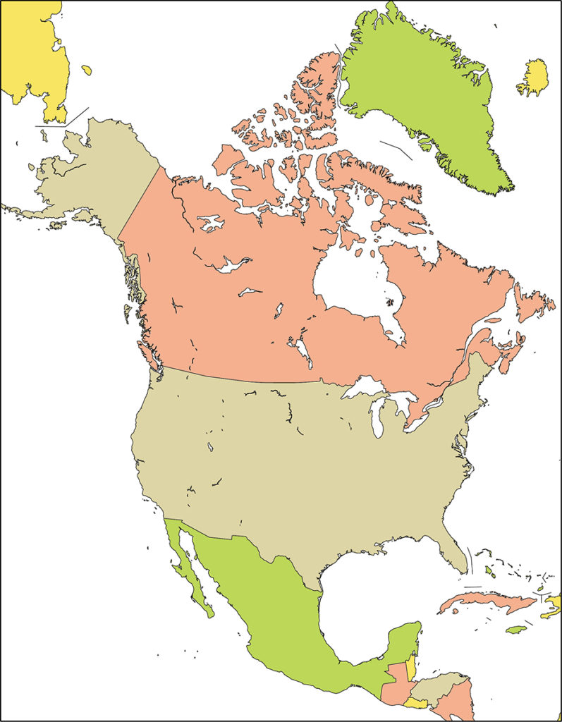 北アメリカ地域-国別