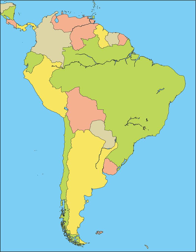 南アメリカ地域-国別-海