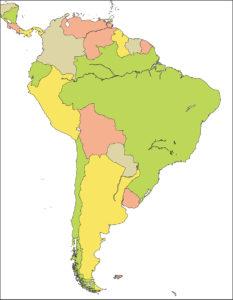 南アメリカ地域-国別