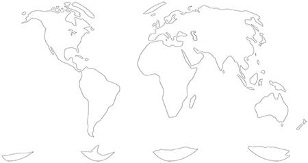 単純化角丸-グード図法-白