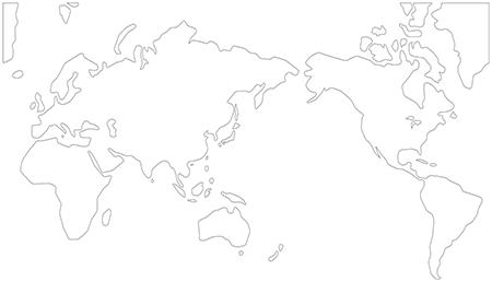 単純化角丸-ミラー図法-白