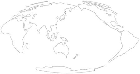 単純化角丸-モルワイデ図法-白