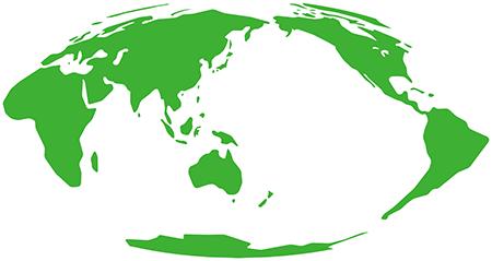 単純化角丸-モルワイデ図法