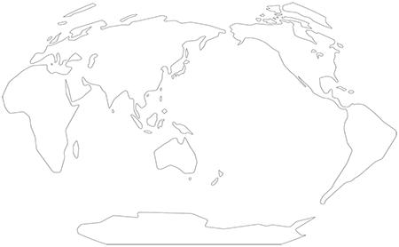 単純化角丸-ヴィンケル図法-白