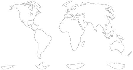 単純化-グード図法-白