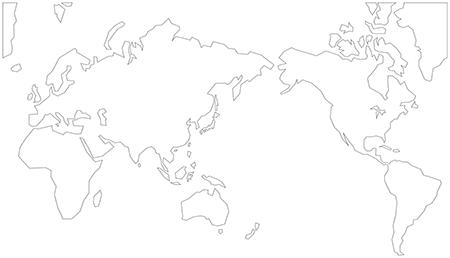 単純化-ミラー図法-白