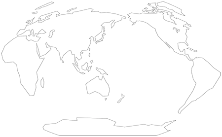 単純化-ヴィンケル図法-白