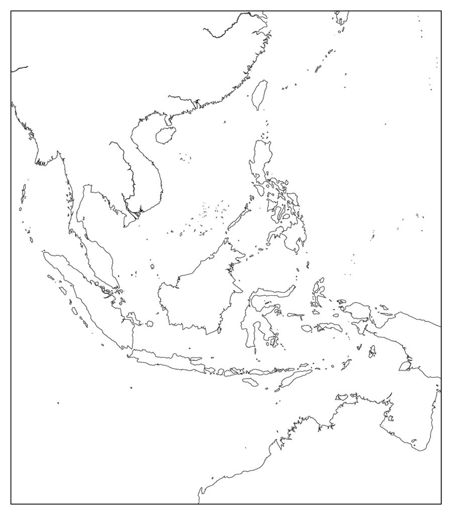 東南アジア地域-白地図-国境なし