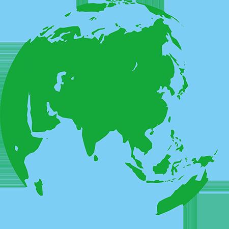 正射図法-アジア
