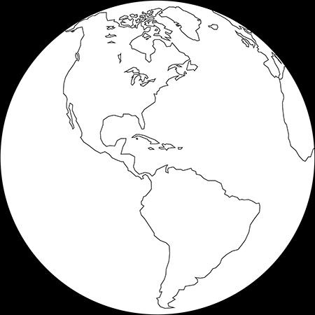 正射図法-アメリカ-白