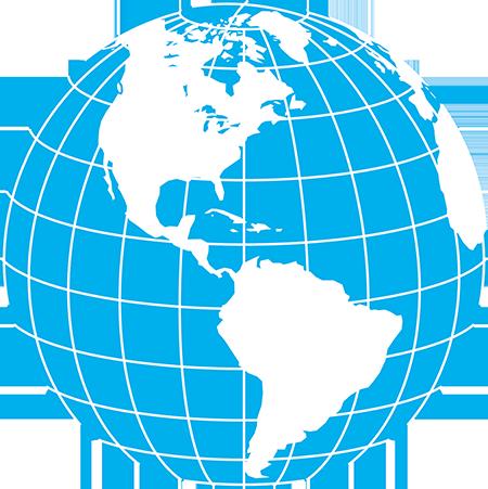 正射図法-アメリカ-緯度経度