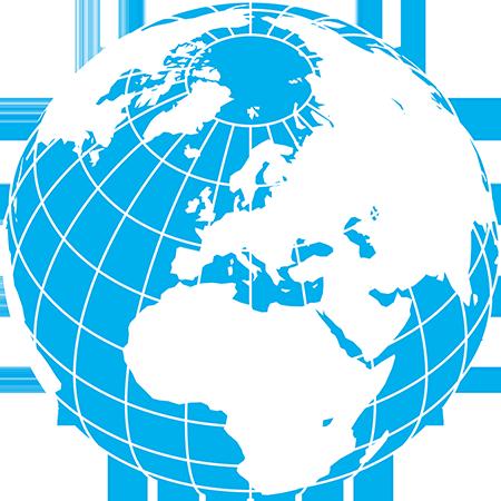 正射図法-ヨーロッパ-緯度経度