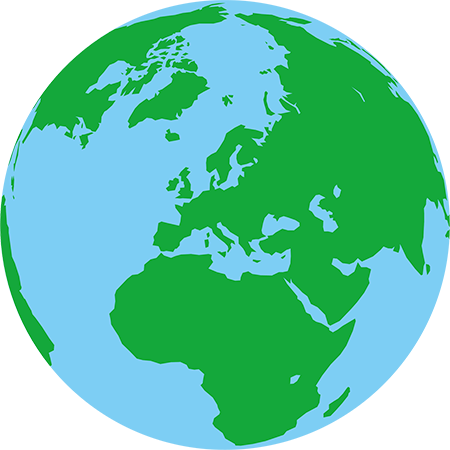 正射図法-ヨーロッパ