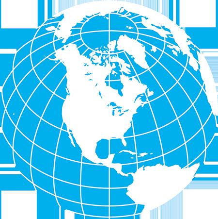 正射図法-北アメリカ-緯度経度