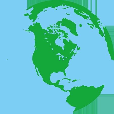 正射図法-北アメリカ