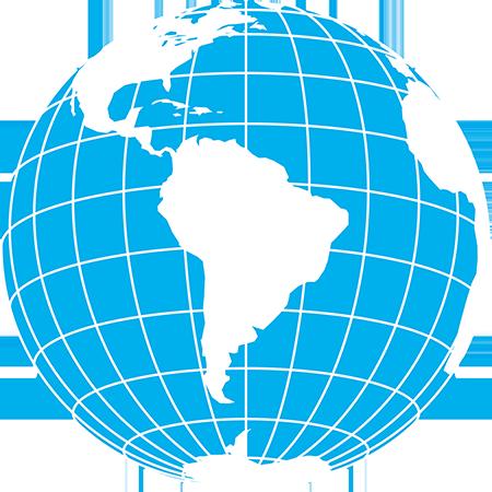 射図法-南アメリカ-緯度経度