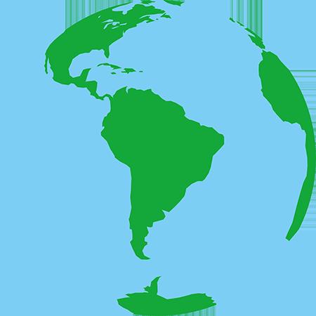 正射図法-南アメリカ
