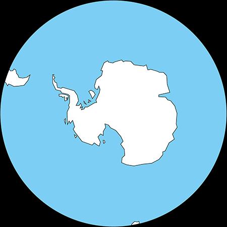 正射図法-南極-白-海