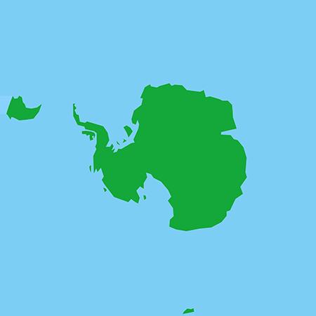 正射図法-南極
