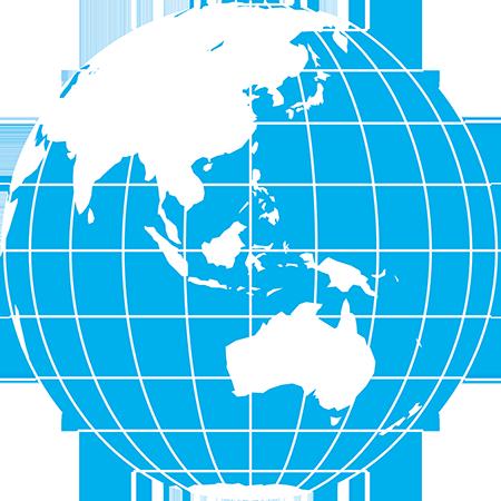 正射図法-東南アジア-緯度経度