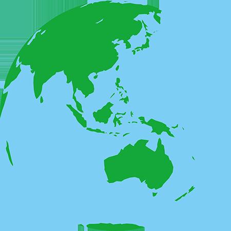 正射図法-東南アジア