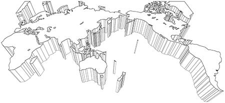 立体斜め-ミラー図法-白
