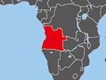 Location of Angola