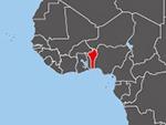 Location of Benin