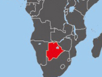 Location of Botswana