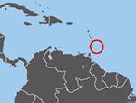 Location of Barbados