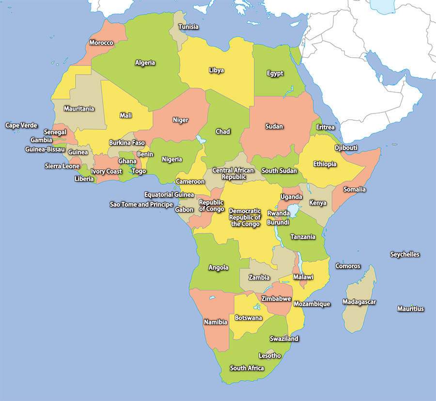 Africa Area Map Image