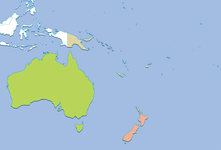 Search from Maps - Oceania Area | Flags of the World
