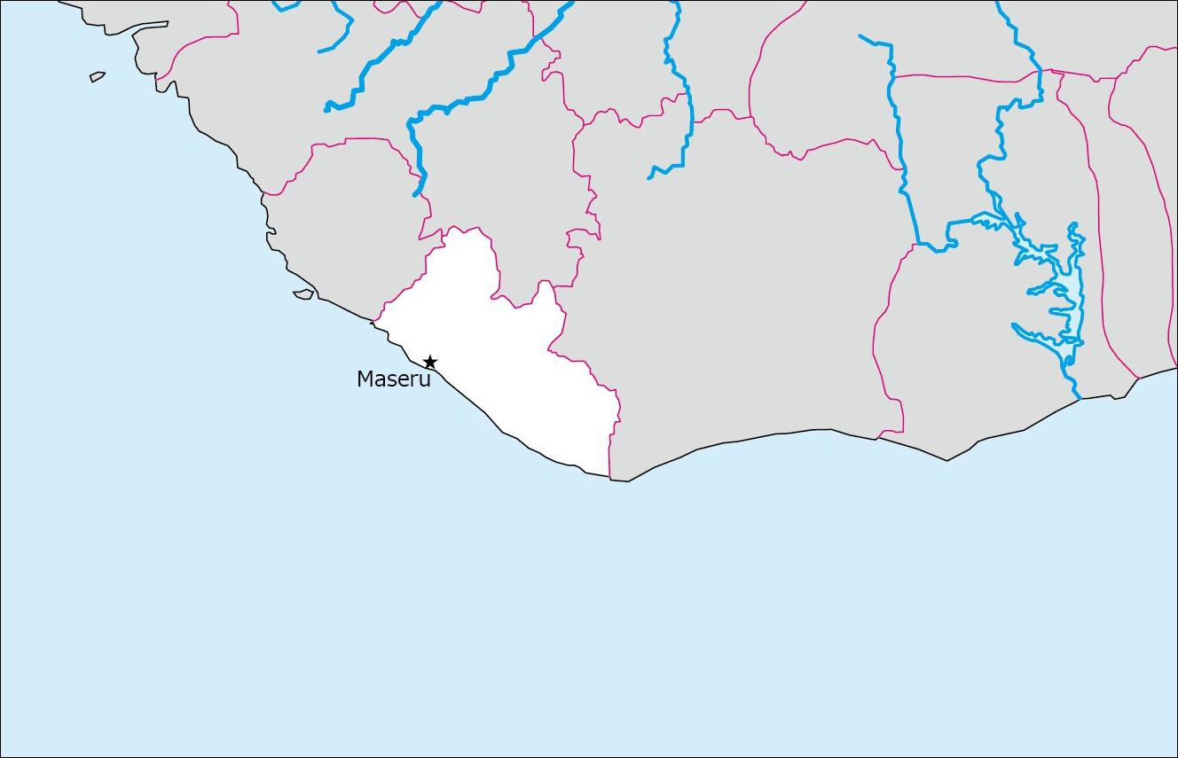 リベリアの白地図 Blank Maps Of Respective Nations