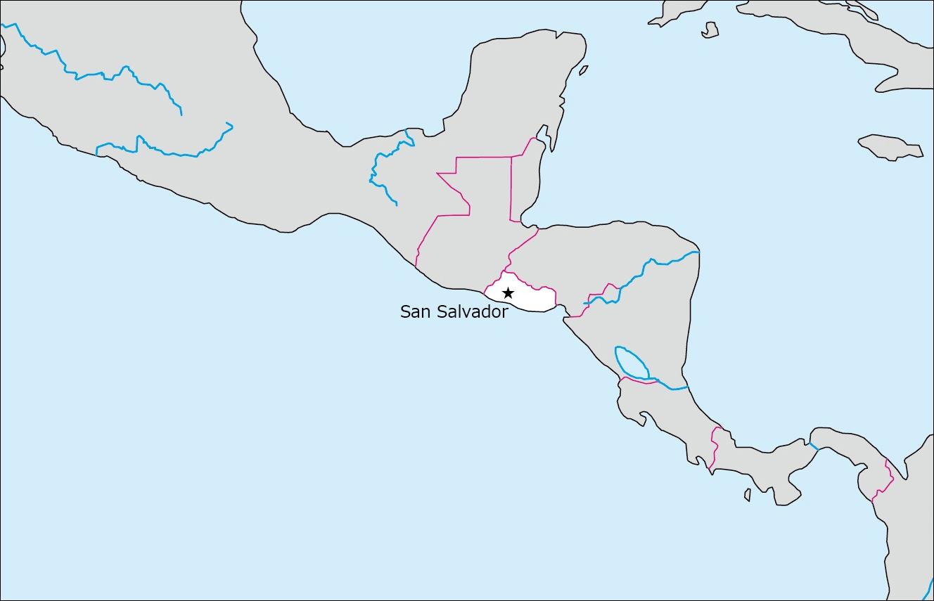 エルサルバドルの白地図   Blank Maps of Respective Nations