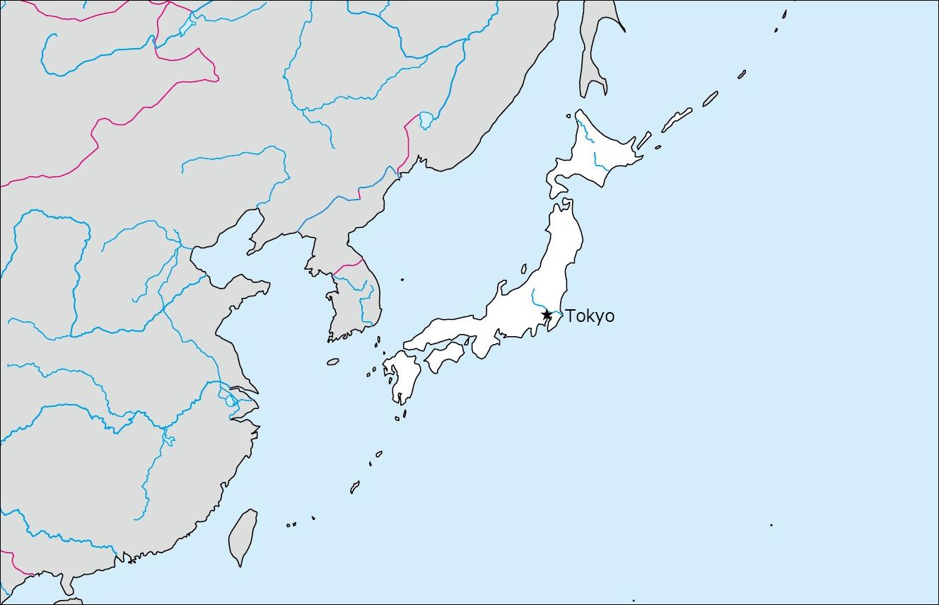 日本の白地図 | Blank Maps of Respective Nations