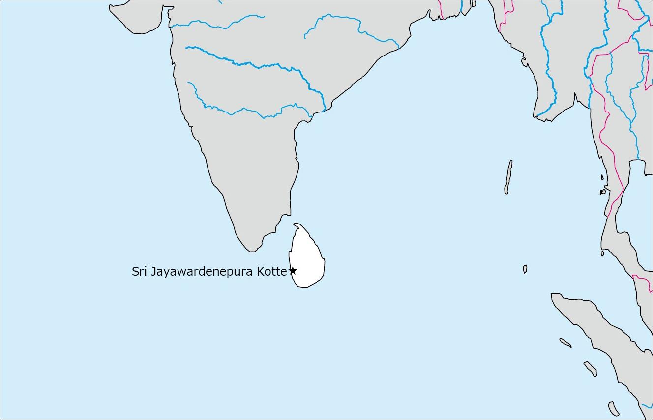 スリランカの白地図   Blank Maps of Respective Nations